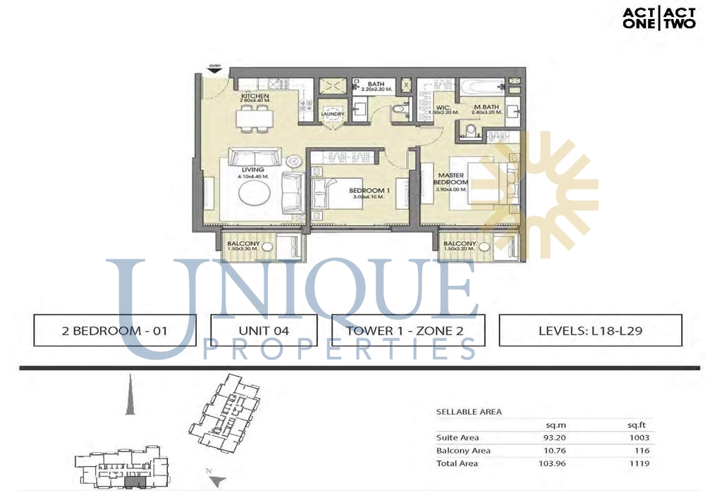 Act One And Two Floorplans Unique Properties Brokers