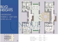 Boulevard Heights Unit 4203 Levels 42 to 43