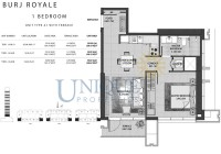 Burj Royale Unit Type A1 with Terrace