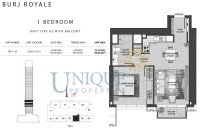 Burj Royale Unit Type A2 with Balcony