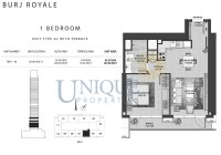 Burj Royale Unit Type A2 with Terrace