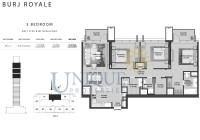 Burj Royale Unit Type B with Balcony