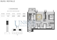 Burj Royale Unit Type B1 with Balcony