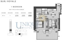 Burj Royale Unit Type B1 with Garden