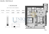 Burj Royale Unit Type B1 with Terrace