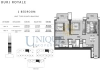 Burj Royale Unit Type B2 with Balcony
