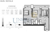 Burj Royale Unit Type B2 with Terrace
