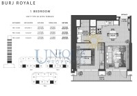 Burj Royale Unit Type B3 with Terrace