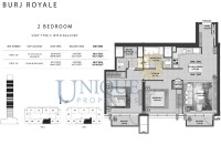 Burj Royale Unit Type C with Balcony