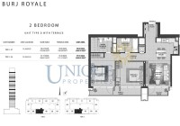Burj Royale Unit Type D with Terrace