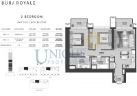 Burj Royale Unit Type E with Balcony