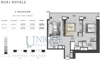 Burj Royale Unit Type F Terrace