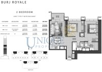 Burj Royale Unit Type F with Balcony