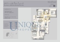 Dubai Creek Residence Unit 1 Levels 4 to 5 and 7 to 15 and 17 to 25 and 27 to 32