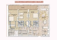 Dubai Wharf Typical Unit Layout 3BR Type A