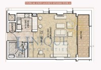 Dubai Wharf Typical Unit Layout Studio Type A