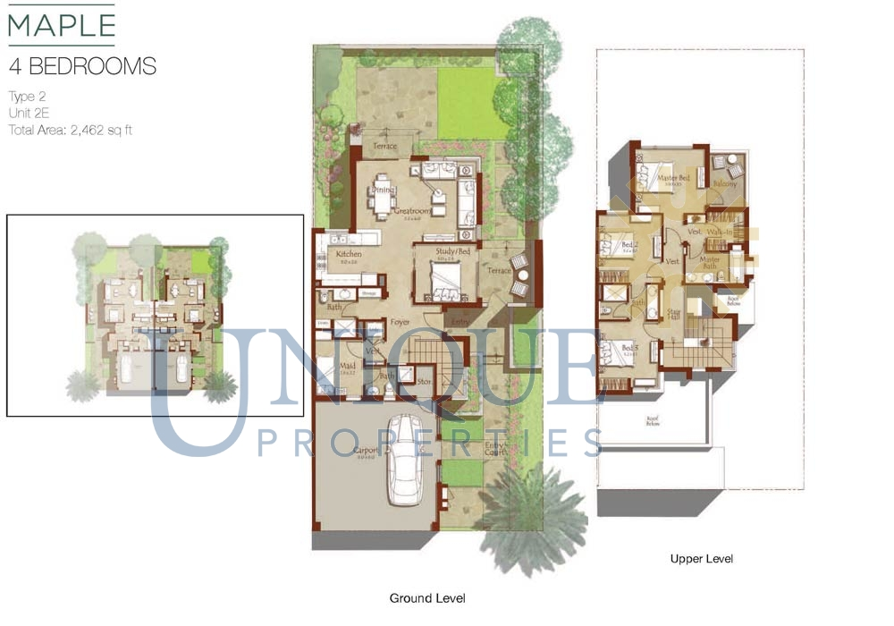 Maple I Floorplans Unique Properties Brokers