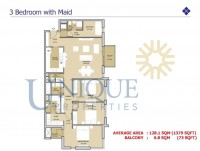 Mudon Views 3 Bedroom with Maid