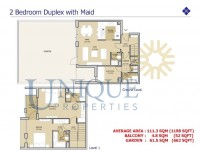 Mudon Views Two Bedroom Duplex with Maid