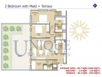 Mudon Views Two Bedroom with Maid Plus Terrace