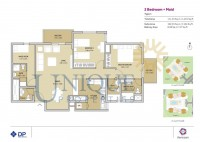 Remraam 2 Bedroom Plus Maids Room Type 1