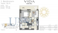 Vida Residence Dubai Mall Type 1B A Unit 7 Levels 8 to 15 and 17 to 38