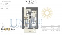 Vida Residence Dubai Mall Type 1B A  Unit 1 to 2 Levels 17 to 38