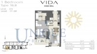 Vida Residence Dubai Mall Type 1B B Unit 3 Levels 17 to 38