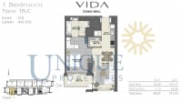 Vida Residence Dubai Mall Type 1B C Unit 3 Levels 40 to 55