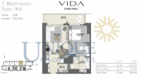 Vida Residence Dubai Mall Type 1B E Unit 8 Level 40 to 55