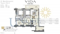Vida Residence Dubai Mall Type 2B A Unit 6 Levels 8 to 15 and 17 to 38
