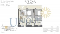 Vida Residence Dubai Mall Type 2B C Unit 3 Levels 8 to 15