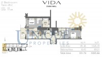 Vida Residence Dubai Mall Type 2B C Unit 4 Levels 17 to 38