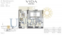 Vida Residence Dubai Mall Type 2B D Unit 4 Levels 8 to 15