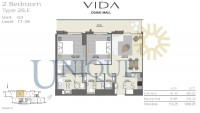 Vida Residence Dubai Mall Type 2B E Unit 3 Levels 17 to 38