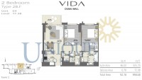 Vida Residence Dubai Mall Type 2B F Unit 4 Levels 17 to 38