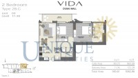 Vida Residence Dubai Mall Type 2B G Unit 5 Levels 17 to 38