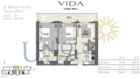 Vida Residence Dubai Mall Type 2B G Unit 7 Levels 40 to 55