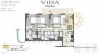 Vida Residence Dubai Mall Type 3B B Unit 2 Levels 8 to 15