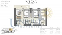 Vida Residence Dubai Mall Type 3B B Unit 8 Levels 17 to 38