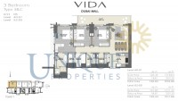 Vida Residence Dubai Mall Type 3B C Unit 5 Levels 40 to 55