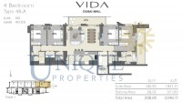 Vida Residence Dubai Mall Type 4B A Unit 9 Levels 40 to 55