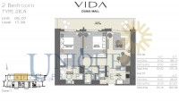 Vida Residence Dubai Mall Unit 6 to 7 Levels 17 to 38